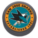 San Jose Sharks, Established 1991 Commemorative NHL Puck